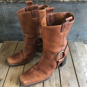 Michael Kors Leather Boots Sz 8